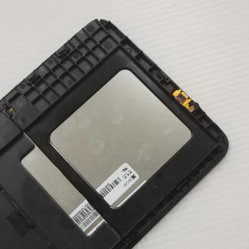لسامسونج T110 SM-T110 غالاكسي تبويب 3 لايت 7.0 كامل شاشة الكريستال السائل لوحة رصد محول الأرقام بشاشة تعمل بلمس الاستشعار الجمعية الإطار