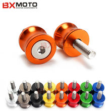 Motorcycle stands screws Swingarm Spools slider Orange 6MM Universal CNC Aluminum Screws For Yamaha YZF R1 R6 R6S motorbike