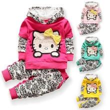 BibiCola baby girls christmas outfits Clothing sets hoodies+pant Children hoodies spring autumn kids 2pcs Sets sport clothes set