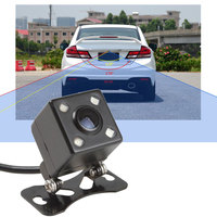 Car Rear View Reverse Backup Parking Camera Night Vision Waterproof 4 LED High Quality