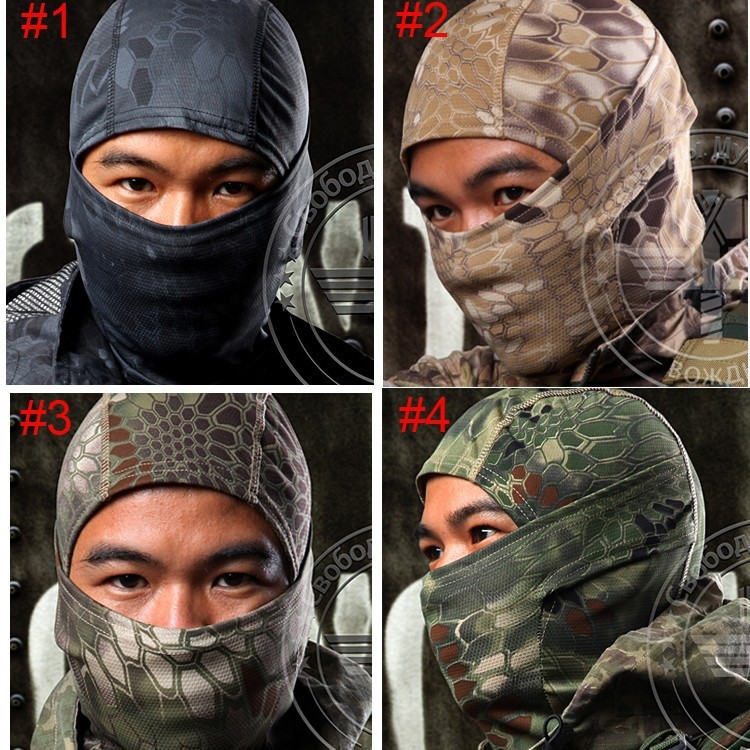 Motorcycle Cycling Hunting CS Balaclava Mask Breathable Chiefs Rattlesnake Camo Tactical Mask Airsoft Paintball Full Face Mask