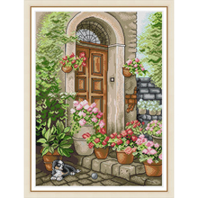 Everlasting love The porch of summer flowers Chinese cross stitch kits Ecological cotton stamped printed 14 11CT DIY decorations dorothea hamm carolin wubbels moments of love flowers and decorations