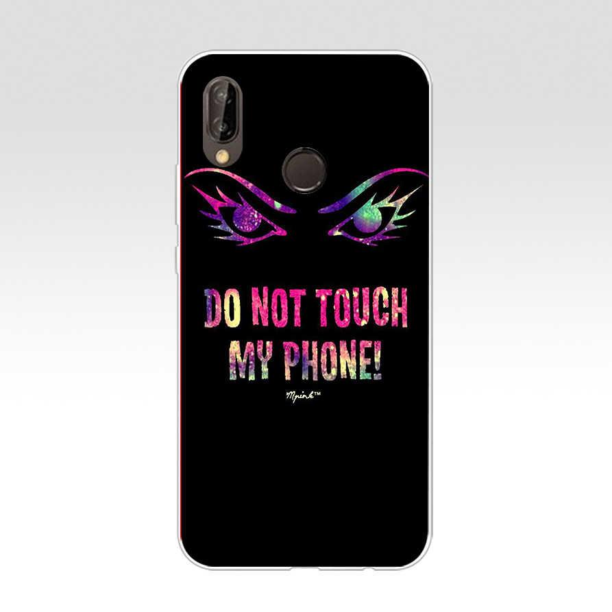 45 ZX ないタッチ私電話ピンクの花 Tpu ソフトシリコンケース Huawei 社ノヴァ 3 3i p9 p10 p20 p30 プロ lite の携帯電話カバー