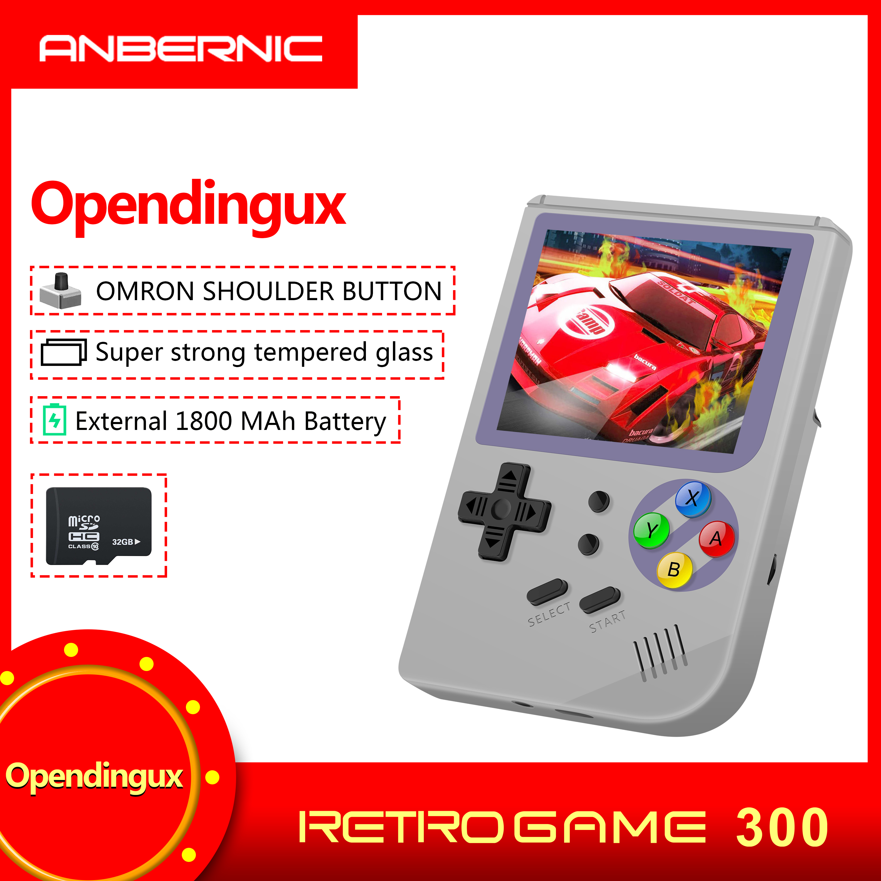 New RG 300 Video Games Portable Consola RETRO GAME rg300 GAMES ldk game MINI Tony system