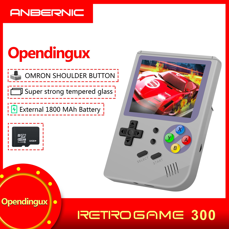 Nouveau RG 300 jeux vidéo Portable Consola rétro jeu rg300 jeux ldk jeu MINI Tony système Portable famille cadeau gratuit 32G TF carte-in Consoles portables from Electronique    1