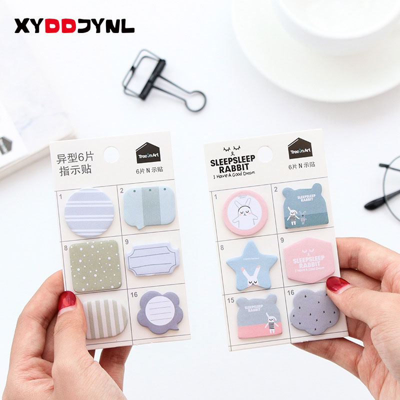 120 Pages/set Mini Memo Pad Diy Post It Sticky Notes Escolar Papelaria School Supply Label Office Supplies