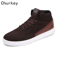 Men S Flat Shoes Fashion Breathable Canvas High Top Retro Style Lace Up Footwear Male Increase