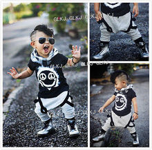 2016 New Fashion Cool 2pcs Newborn Toddler Kids Baby Boys Girls Outfits Smile Printed T-shirt Tops+Pants Clothes Set 2019 стоимость