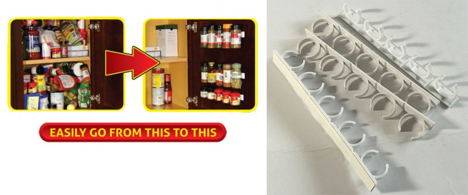 20 PC SET New Kitchen Clip Spice Gripper Jar Rack Storage Holder Wall Cabinet Door Storage Racks Kitchen Tools Bathroom Shelves (2)