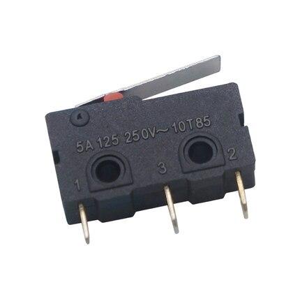 10 шт. kw11-3z-2 3pin 5A 250vac g69 цилиндрическим хвостовиком штатив мини свет сенсорный выключатель для Мышь переключатель бесплатная доставка