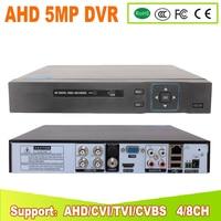 Hi3531A 5MP 4CH 8 Channel 2*SATA WIFI Coaxial Hybrid 6 in 1 NVR TVI CVI AHD CCTV DVR Surveillance Video Recorder Free Shipping