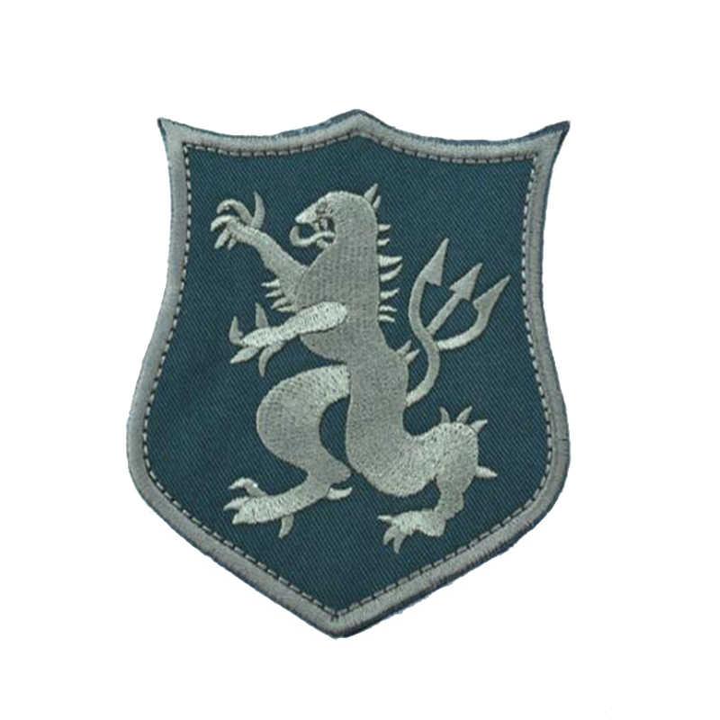 Parche para brazalete táctico de doble cara bordado militar para enviar ropa áspera mochila pulsera con rayas con insignia de gancho y lazo