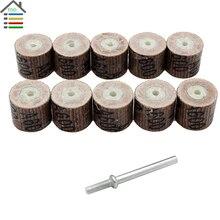 10pcs 600 Grit Flap Wheel Sandpaper Sanding Disc Replacement Mandrel Abrasive Rotary Tool Free shipping