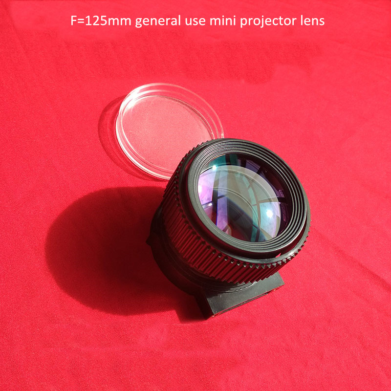 Mini Projector General Use Lens LED Projector DIY F125mm For UC40 UC46 Rigal Projection Lcd 4 Inch