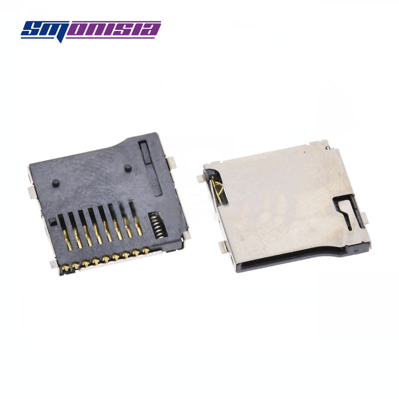 100pcs SIM Mobile phone card solt Contact gold-plated SIM card socket Clamshell SIM card solt 6P