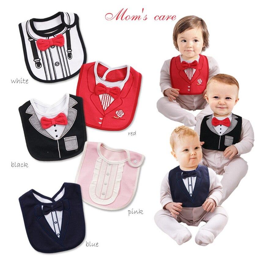 Bebés Meninos Meninas Babador Slobber Sólido Vermelho Tie Gentleman Toalha / Bebê Recém-nascido Babadores De Algodão Acessórios de Alta Qualidade!