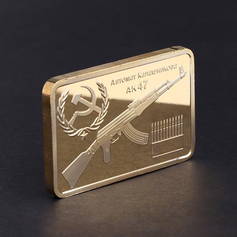 Памятная монета Tacticle AK 47 Золотая квадратная коллекция искусство подарки сувенир для подарка