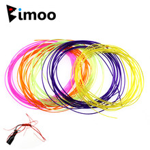 Bimoo 8 packs Platte Elastische Floss String voor Koppelverkoop Micro Worm Flies Streamer Benen Nimf Body Buzzer Wangen Flexi Worm vliegen Etc.(China)