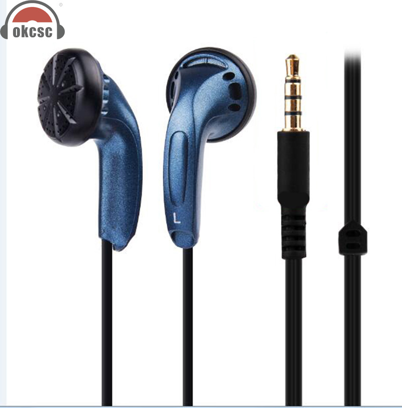 OKCSC Wired Headsets with Microphone for Mobile Phone PC Active Noise Cancelled Earplug Super Bass In Ear Earphones 3.5mm Plug remax music clear wired in ear earphones with mic super bass stereo noise isolating earbuds comfort headsets for mobile phone pc