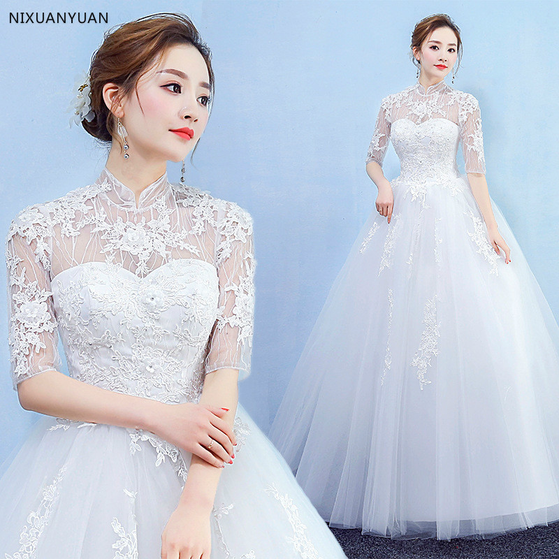 2019 Beautiful Free Shipping New Hot Selling Cheap Ball Gown Lace Up Back Formal Bride Dresses Wedding Dress