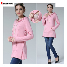 Emotion Moms New Winter pregnancy Maternity Clothes Nursing tops for Pregnant Women Breastfeeding Hoodie sweater