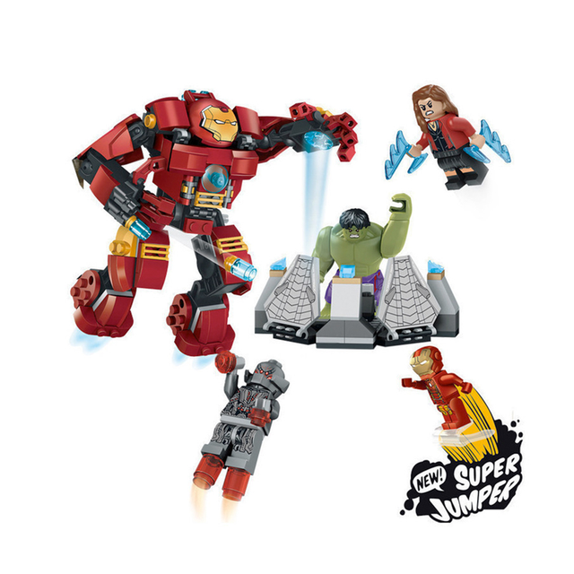 Decool 7110 Fit Legoness Marvel 76031 Super Heroes Avengers Hulk Buster Smash Set Ironman Mini Figures 248pcs Blocks Toys Gift