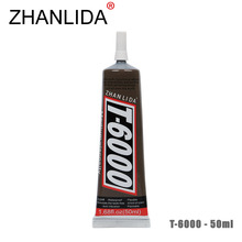 ZHANLIDA T-6000 50ml Epoxy Resin Multi Adhesive Lampshade Mobile Door Fix Touch Screen Middle Frame Leather T6000 Glue
