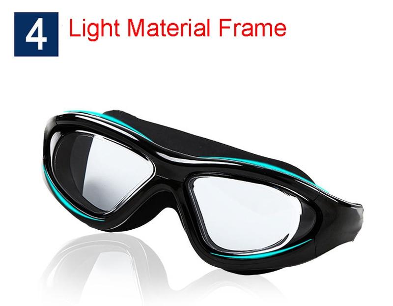 Professional Diopter Myopia Silicone Swimming Goggles Anti-Fog Waterproof With Earplugs 19