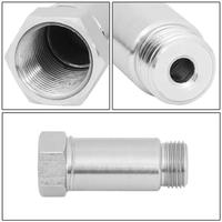 "1 stainless steel Stainless Steel M18 x 1.5mm Straight O2 Sensor Spacer Adapter Isolator Extender 1-3/8"" Universal (Pack of 2) (3)"