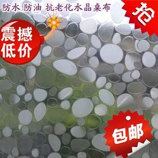 Pavée cristal plaque 2 mm d'épaisseur de verre pvc souple translucide étanche salle d'huile nappe tapis de table transparente