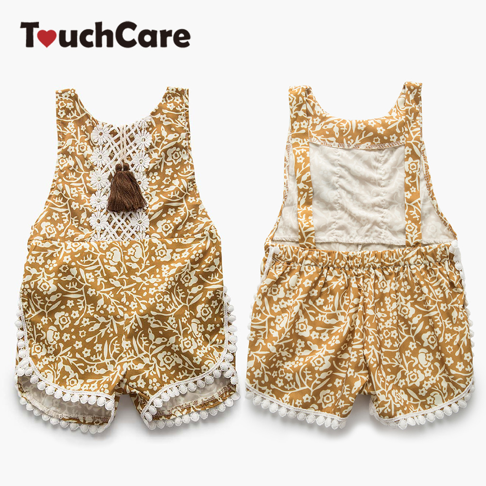 Clearance Newborn Baby Lace Floral Rompers Sleeveless Slip Baby Clothes Backless Jumpsuits Infant Summer Baby Girl Clothing