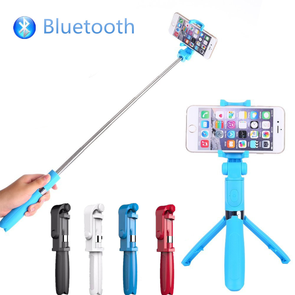 FGHGF bluetooth Selfie stick for android selfie monopod bluetooth for IPhone se 6 7 8 Pl ...
