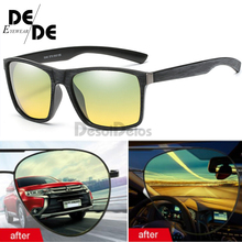Hot Day & Night Vision Driving Polarized Sunglasses mens Glasses Anti-glare glasses Eyewear