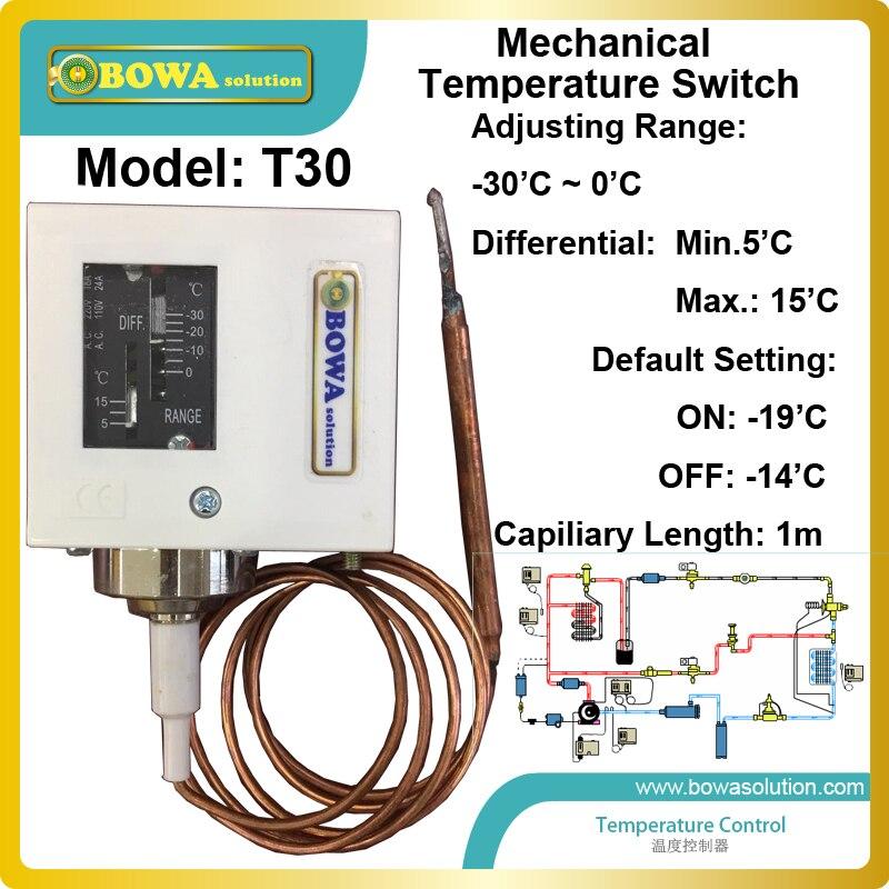 -30 до 0 механические Температура управления с электромагнитный клапан используются для Центральной холодильных установок с мульти-испарит...