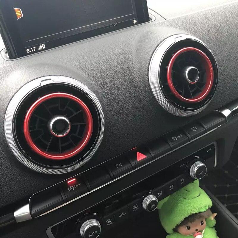 4 Pcs de Haute Qualité En Alliage D'aluminium Décoration Anneau Air Couvercle De Sortie autocollant Décoration Cercle Pour Audi A1/A3/S3 2013-2016/Q2