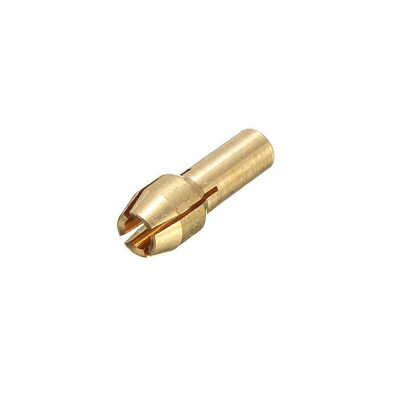 10 個 0.5-3.2 ミリメートル真鍮ドリルチャックコレットビット 4.3 ミリメートルシャンク用ドレメルロータリーハンドツール新 2017