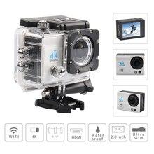 4K Video Camera  Wifi 30M Waterproof 2.0inch LCD Helmet sport Camera Fotografica Cam  1080p FHD go waterproof pro camera