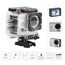 4 K Video Kamera Wifi 30 M Su Geçirmez 2.0 inç LCD Kask spor Kamera Fotografica Kam 1080 p FHD gitmek su geçirmez pro kamera