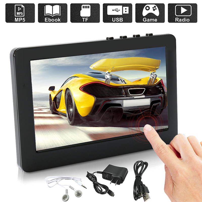 BCMaster player Premium Portable player e-book Fm radio Recorder Touch Screen MP5 mp3 Player Music Video dropshipping
