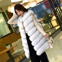 Fox hair vest fur coat long lady autumn and winter new whole leather horse clip slimAutumn fox skin