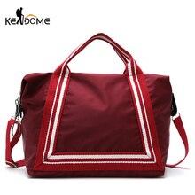 Купить с кэшбэком Women Sport Training Gym Fitness Travel Bags Durable Waterproof Nylon Outdoor Sports Handbag Shoulder Tote For Female XA941WD