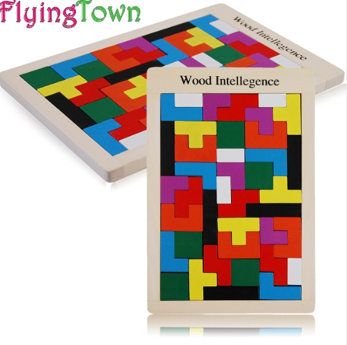 Children Wooden Puzzles Toy Tangram Brain Teaser Puzzle Toys Tetris Game Educational Kid Jigsaw Board Toy Gifts 1000 pieces the wooden puzzles adventure together jigsaw puzzle white card adult children s educational toys