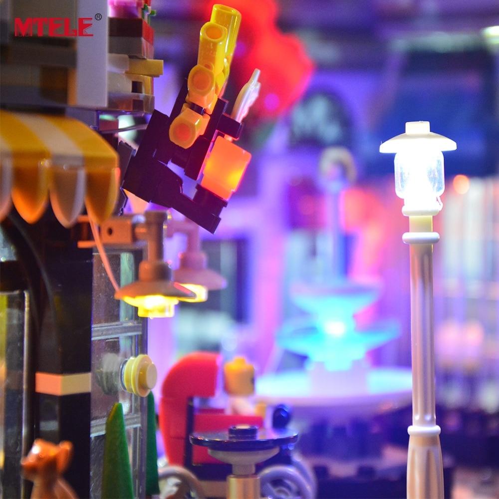 MTELE LED Light kit Voor De Montage Vierkante Set Stad Bouwsteen Licht Set Compatibel met 10255 (Niet Inbegrepen de Model)-in Blokken van Speelgoed & Hobbies op  Groep 3