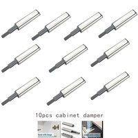10Pcs Open System Damper Buffer Catch Tool Kits Cabinet Latch Door Drawer Push LS