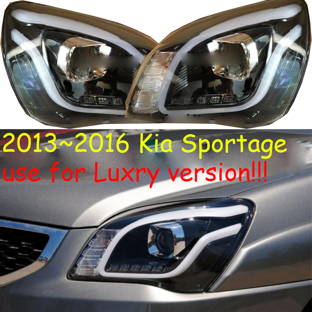 HID xenon,2013~2016 Car Styling,KlA Sportage Headlight,SportageR,soul,k5,sorento,kx5,ceed,Sportage daytime light;car accessories
