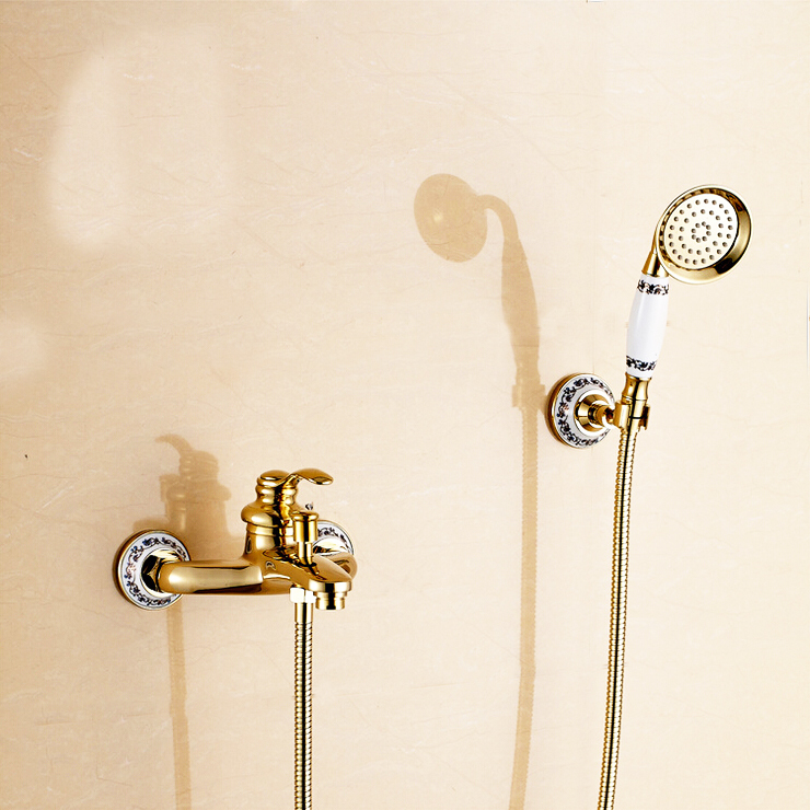 L16053 Wall Mounted Gold Color Hot & Cold Water of Good Quality Bath Faucet Come with Hand Shower and Hose corporate governance and quality of earnings