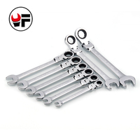 YOFE 8 15 19mm 8pc Flexible Head Ratchet Spanner Combination wrench a set of keys ratchet handle tools torque wrench Tool gifts