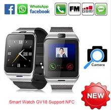 Smart watch aplus gv18 uhr sync notifier unterstützung sim-karte bluetooth-konnektivität apple iphone android telefon smartwatch uhr