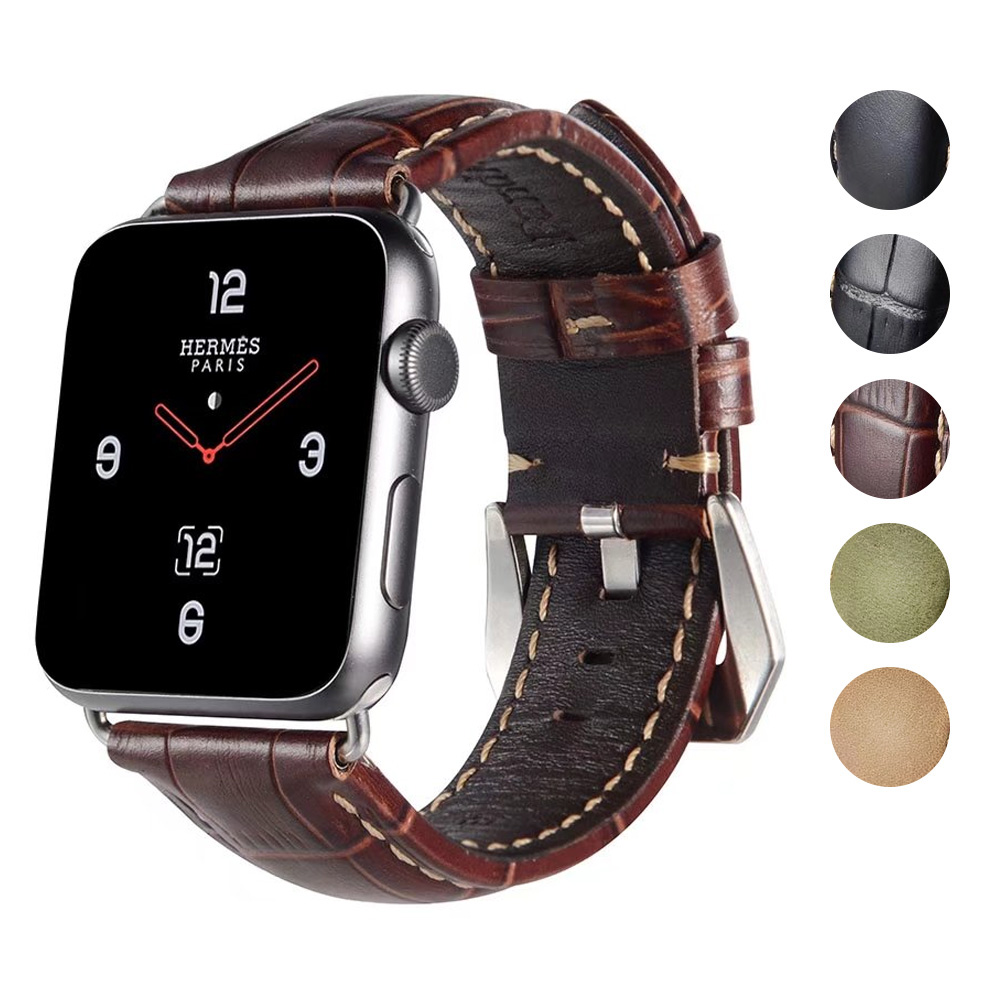 Retro Vintage Genuine Leather iWatch Strap Replacement for Apple Watch 42mm Series 3 2 1 Sport and Edition iwatch band 38mm ashei watch replacement band for apple watch series 3 2 1 vintage genuine leather watchbands for iwatch strap sport and edition