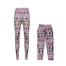 Одинаковая одежда для мамы и дочки Семейные брюки-скинни легинсы с принтом